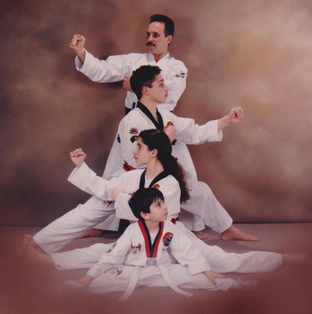 From top: Grandmaster Joseph Lupo Sr., Master Joseph Lupo Jr., Jennie Lupo, Vincent Lupo